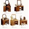 明兴家瑞家具 实木梳妆台 橡木梳妆台